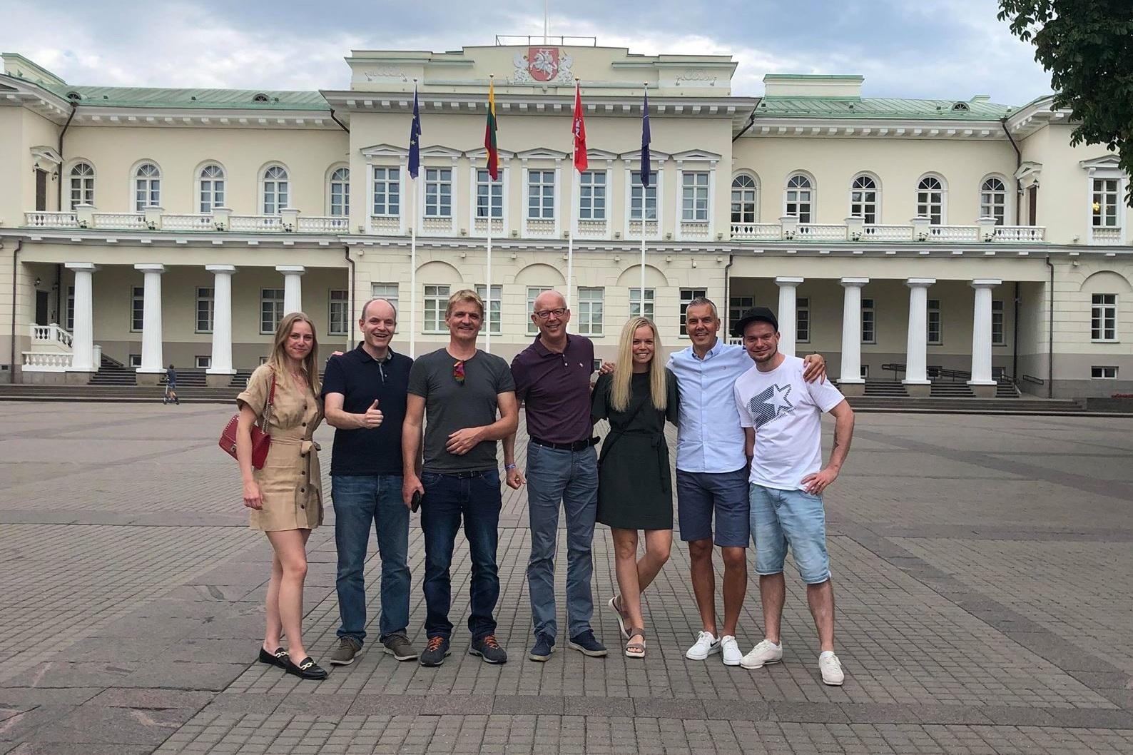 Foto: Frå Gasta+Vardahei IT sin sommartur til Vilnius, Litauen