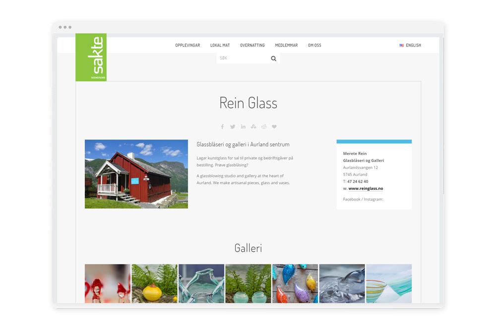 Medlemspresentasjon - Vi har brukt blogg-modulen i Squarespace til presentasjon av medlemmane i Sakte. Denne delen kan medlemmane enkelt oppdatere, også via app på mobilen.