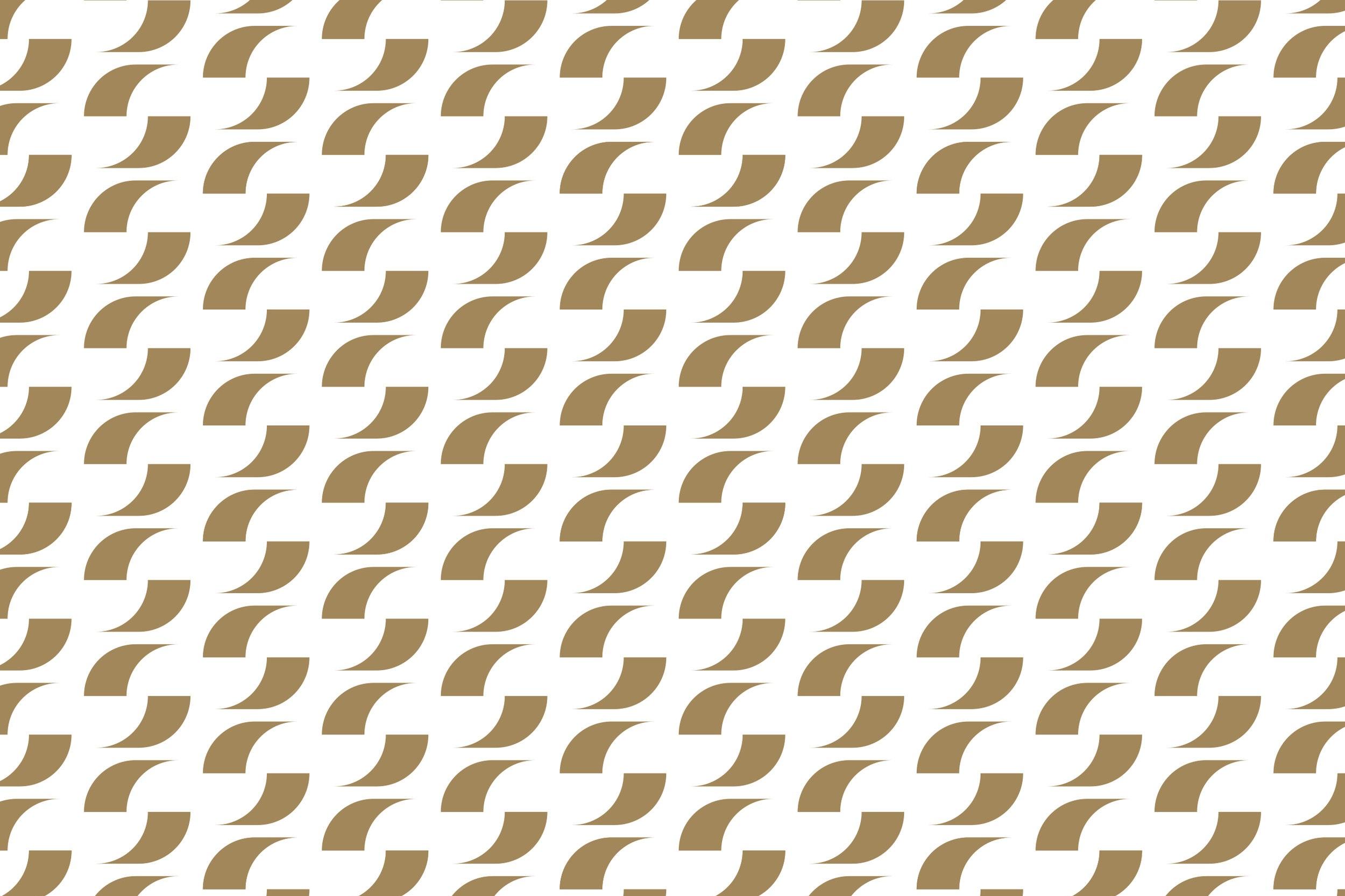 Mønster - Basert på logo-symbolet vart det utvikla eit mønster som kan brukast på ulike flater.