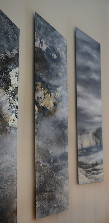 A unique blend of realism and abstraction for this custom work.