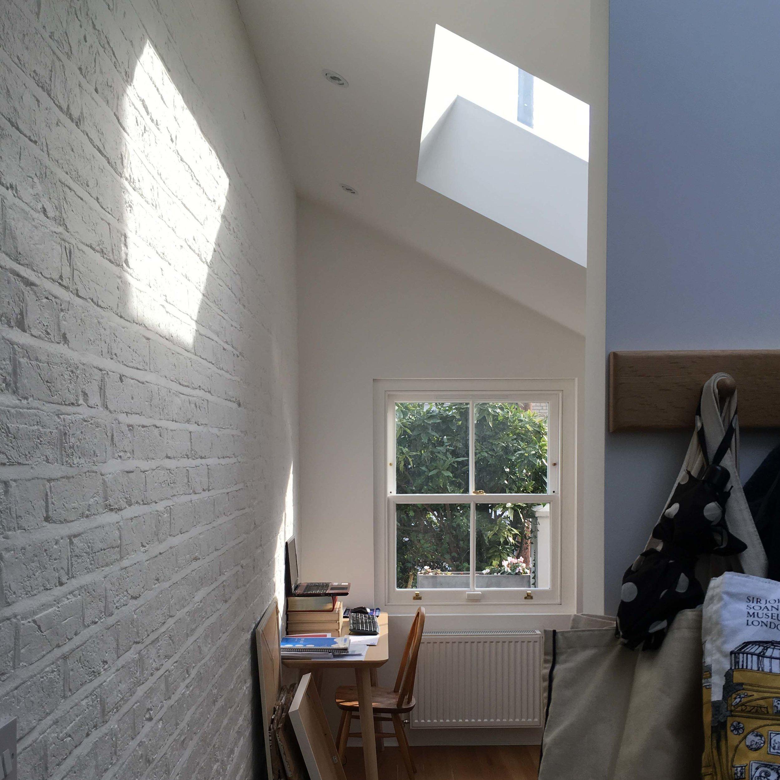 Acton Study Interior; View into study