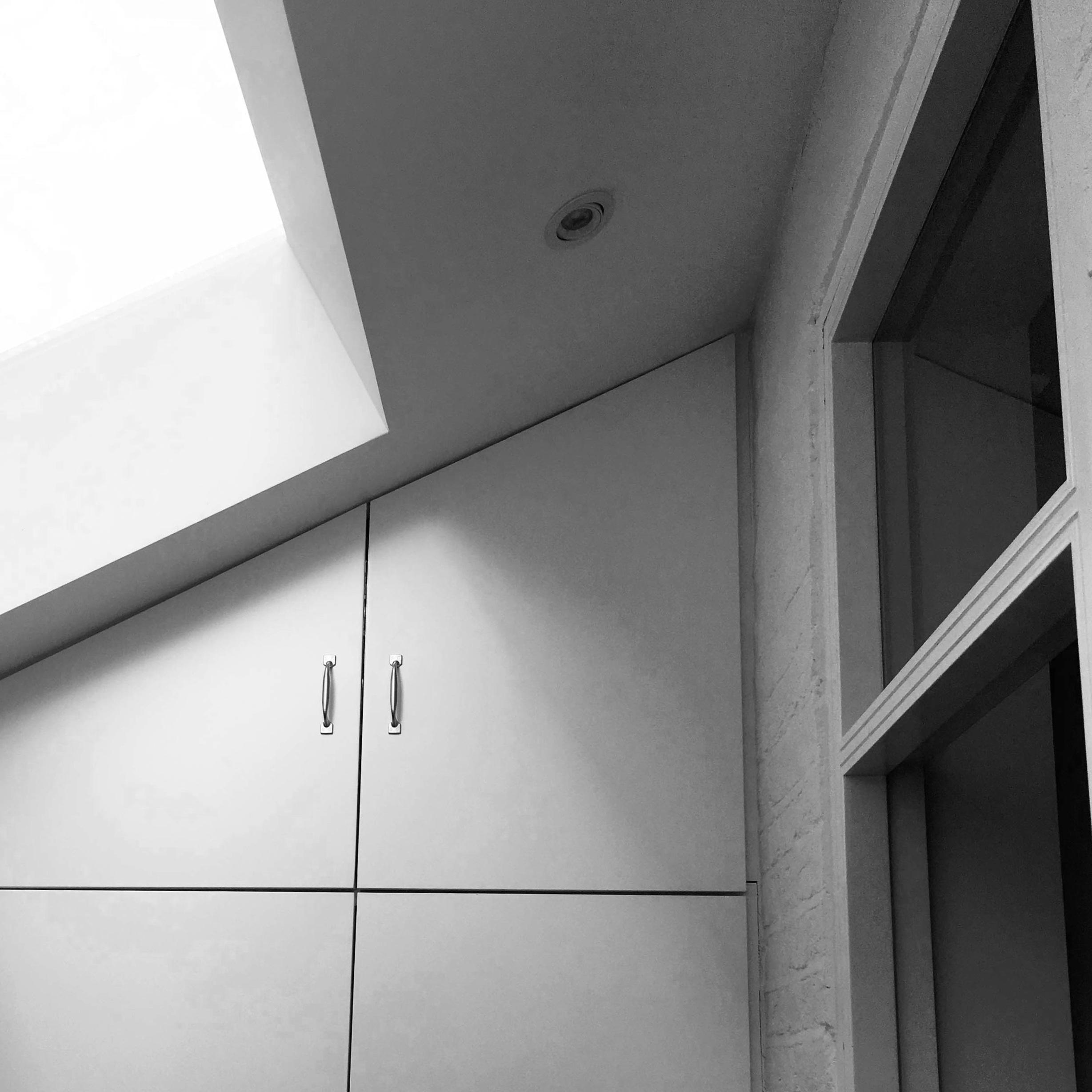 Acton Study Interior; Storage Wall