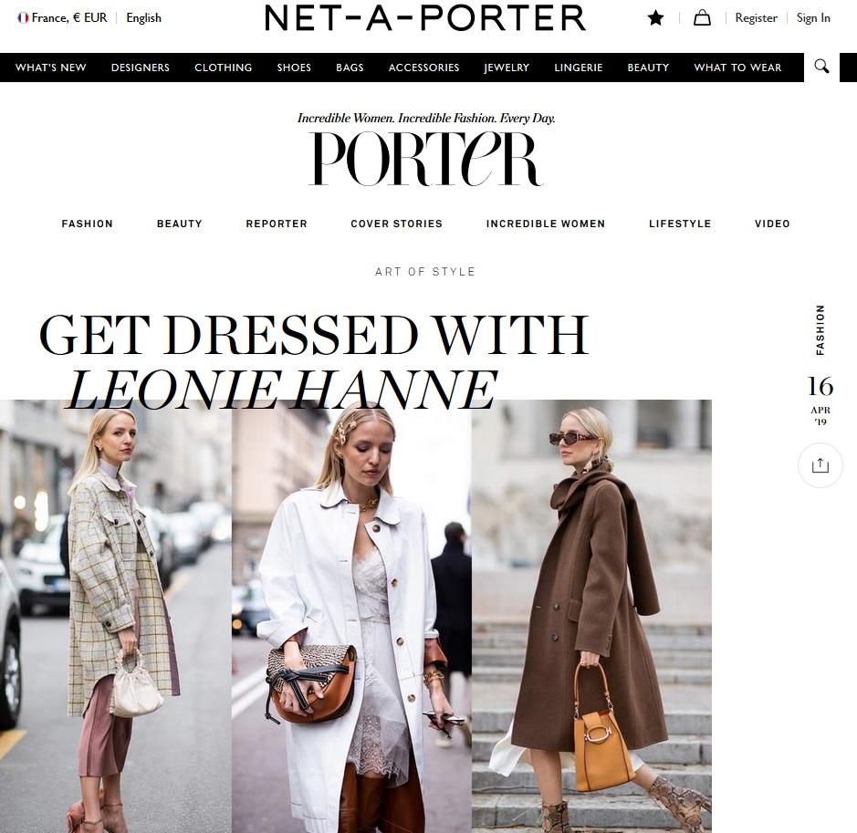 Net A Porter : Leonie Hanne