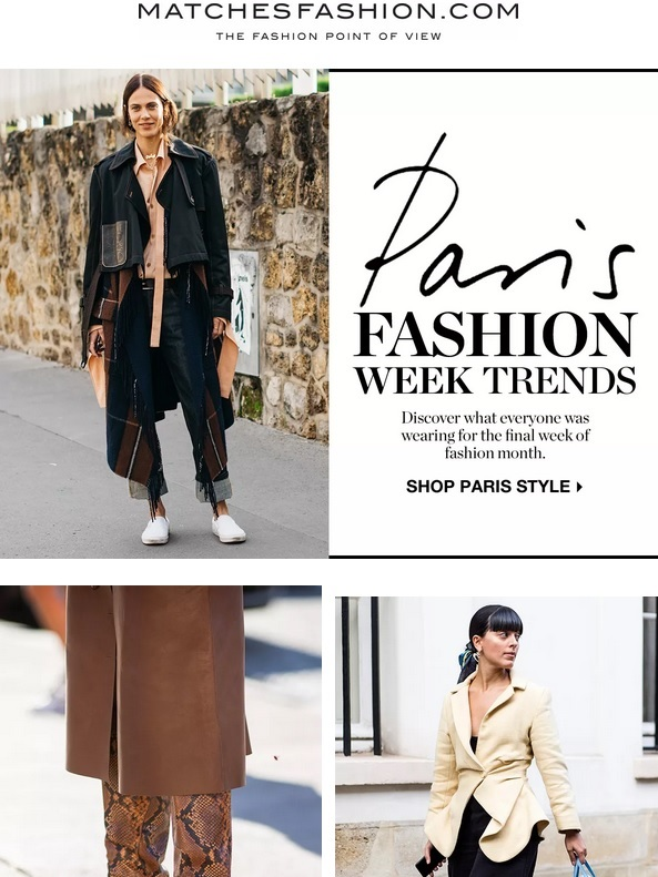 Matches Fashion : PFW Trends