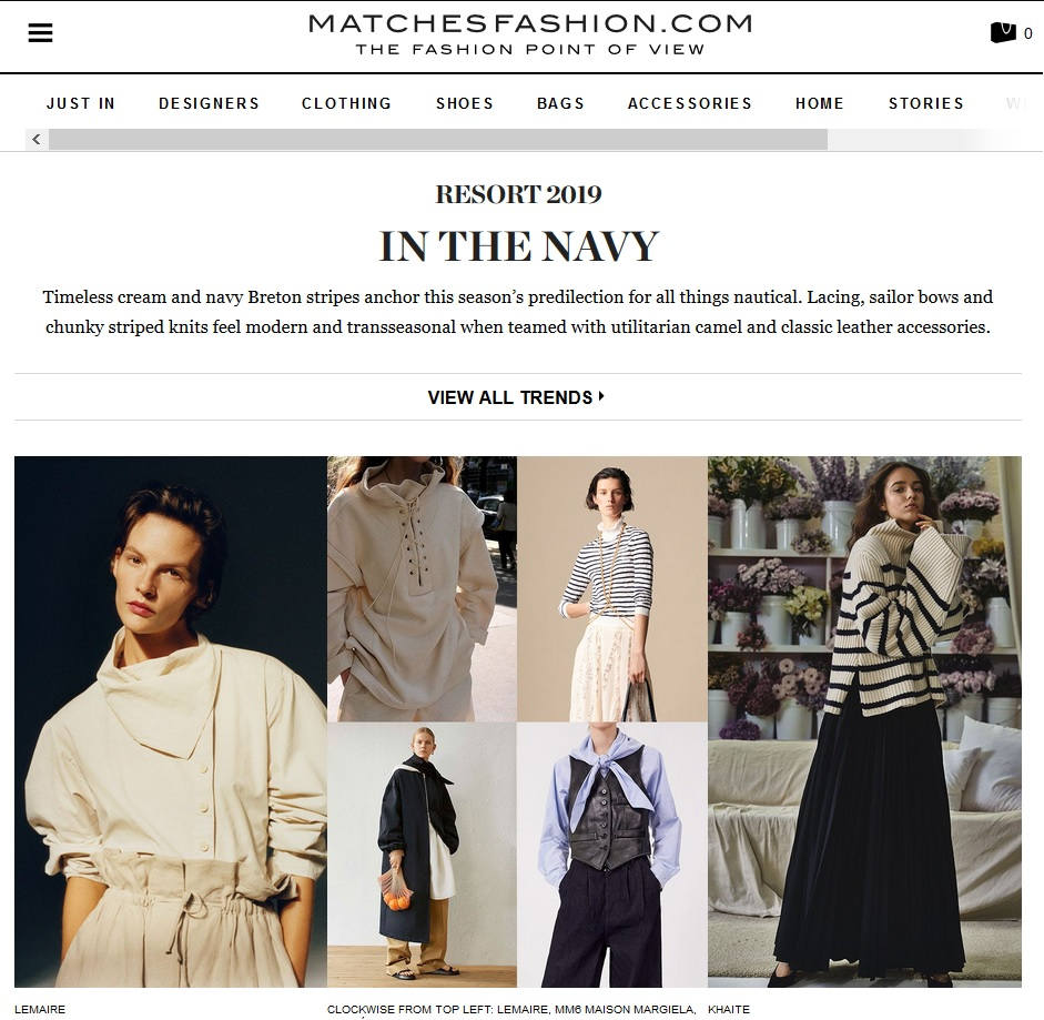 Matches Fashion : In the Navy