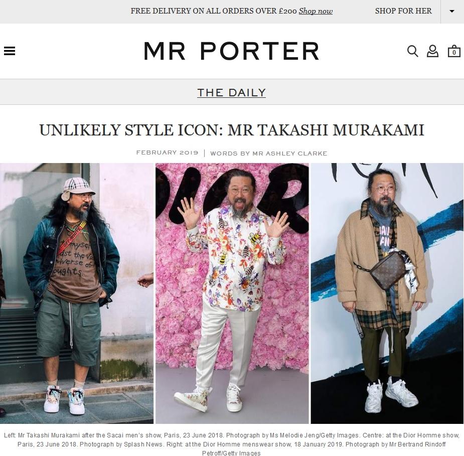 Mr Porter : Takashi Murakami