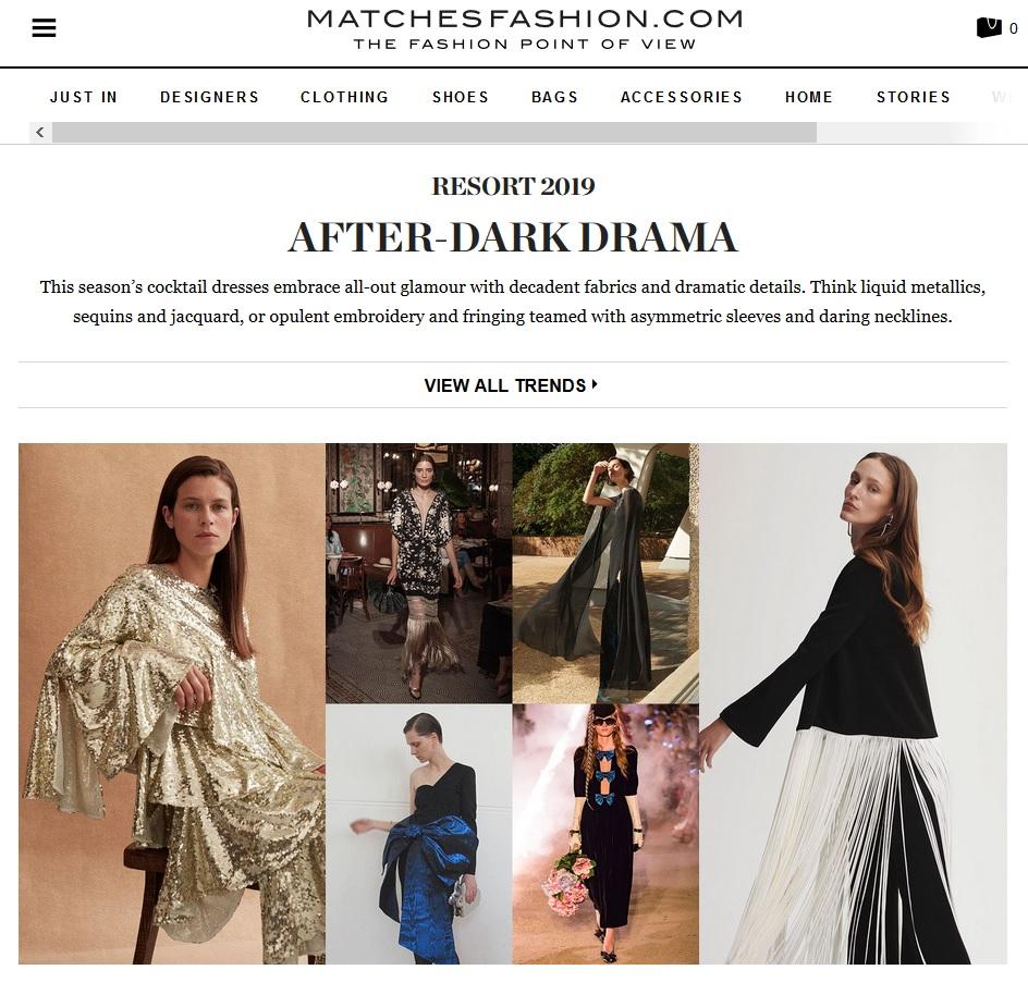 Matches Fashion : After Dark Drama