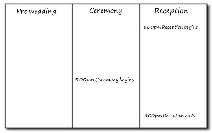 Wedding Timeline Basics