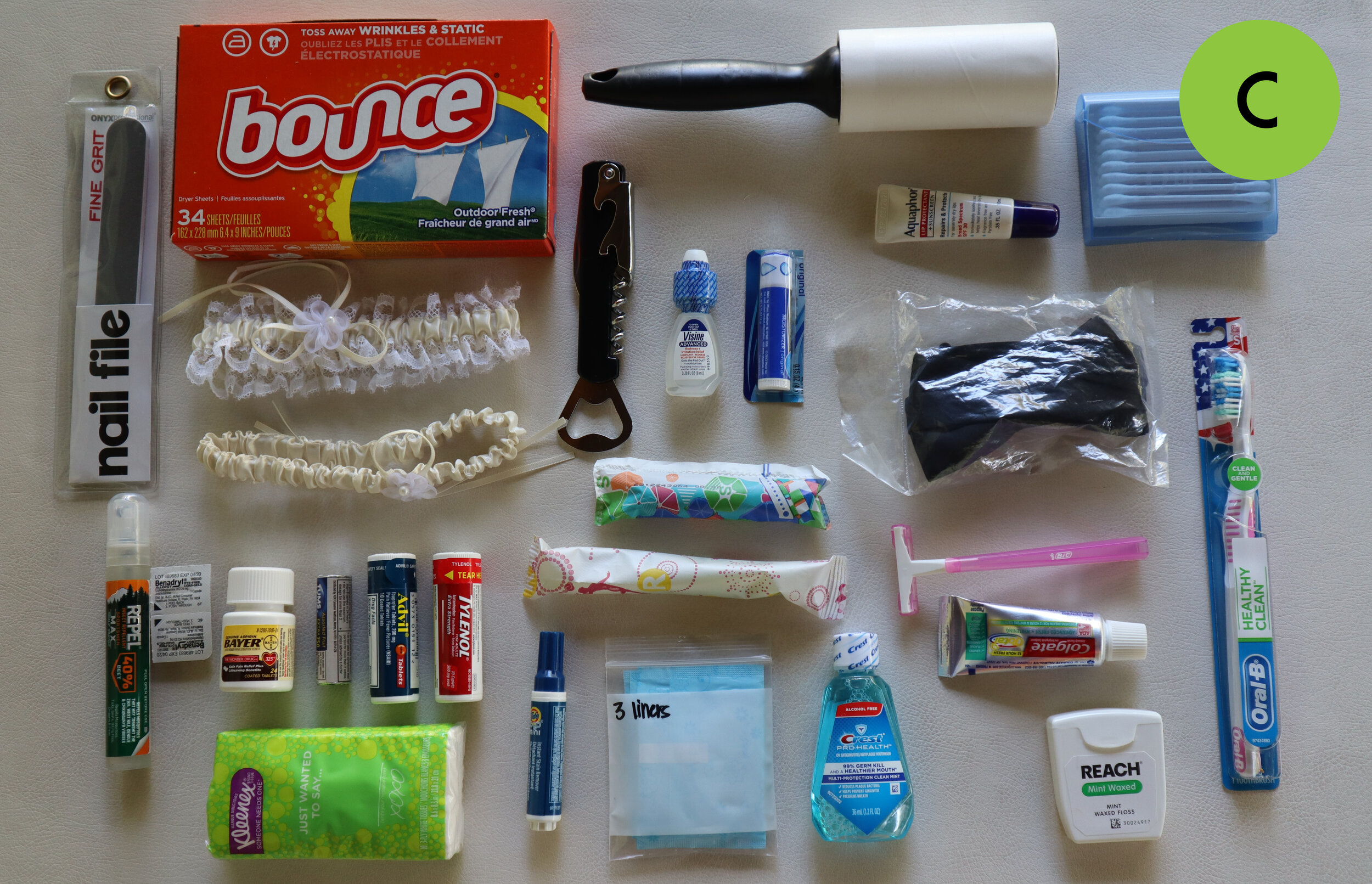 Wedding Emergency Kit Contents
