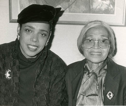 Designer, Coreen Simpson with Civil Rights Icon, Rosa Parks. Courtesy of  The Black Cameo Collection .