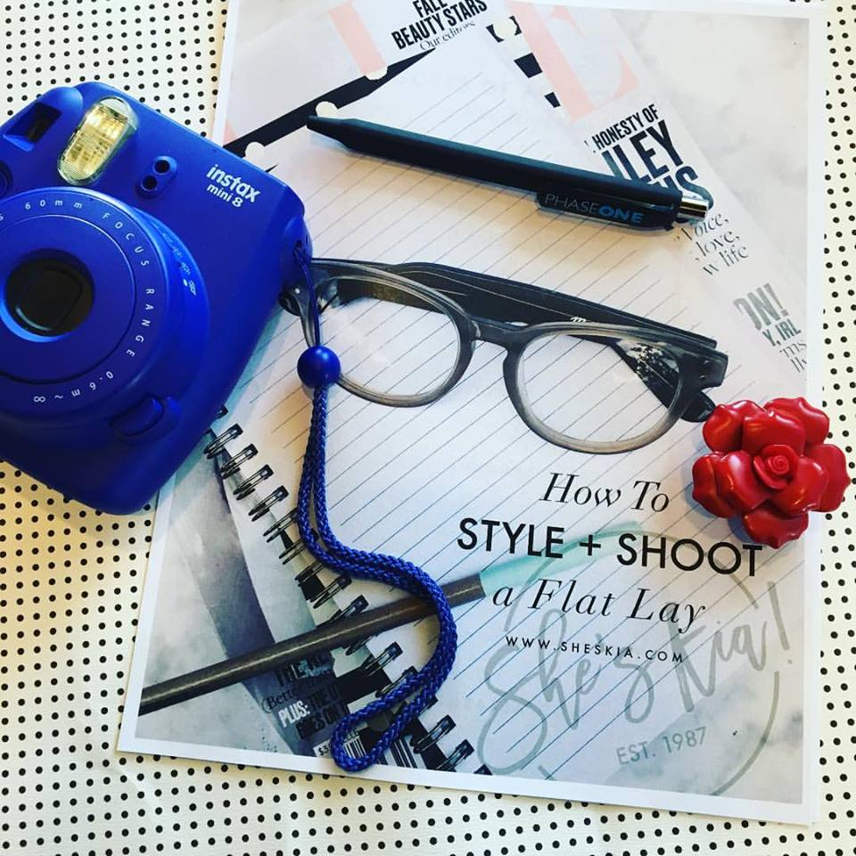 Flat lay I took at a workshop by  She's Kia  with  Bloggers of Atl .
