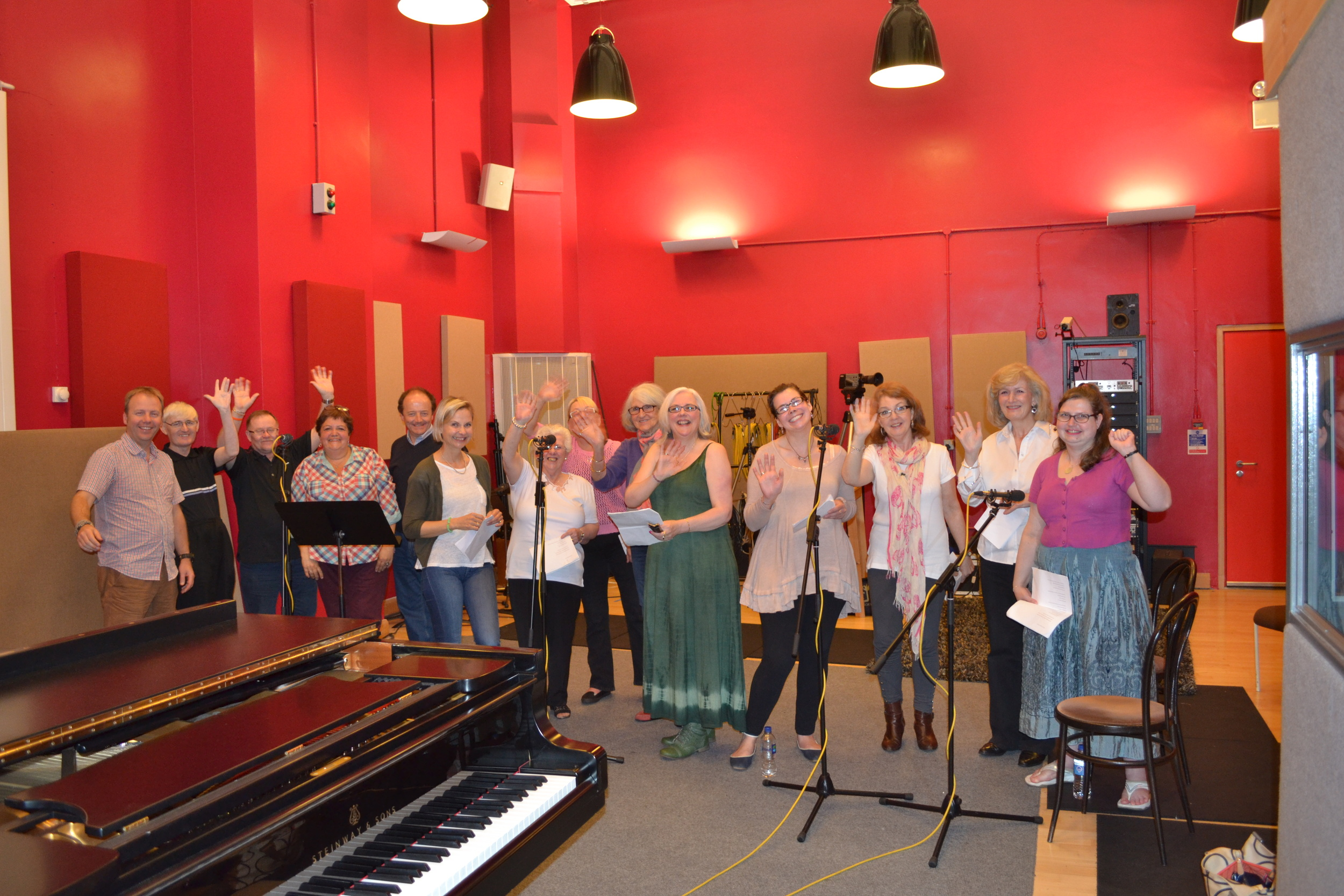 Maggie's Choir recording at The Royal Conservatoire Of Scotland