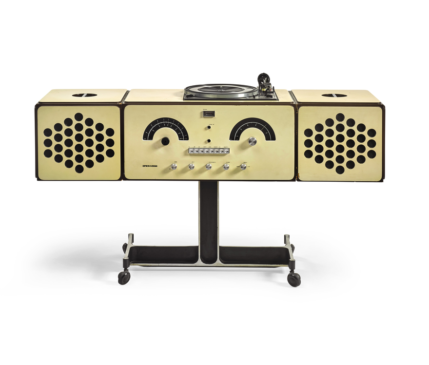 A radiophonograph by Pier Giacomo and Achille Castiglioni Brionvega from 1965 from David Bowie's private collection. Courtesy of Sotheby's. Approx.: $ 1,600,-