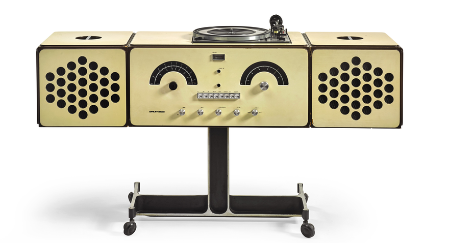 A radiophonograph by Pier Giacomo and Achille Castiglioni Brionvega from 1965 from David Bowie's private collection. Courtesy of Sotheby's.
