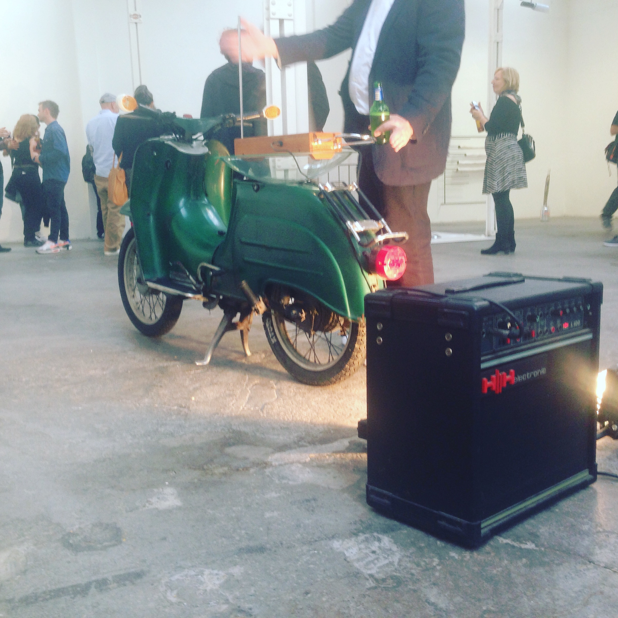 Robert Chambers, Motor Byte, 2016 Vespa scooter, theremin, amplifier