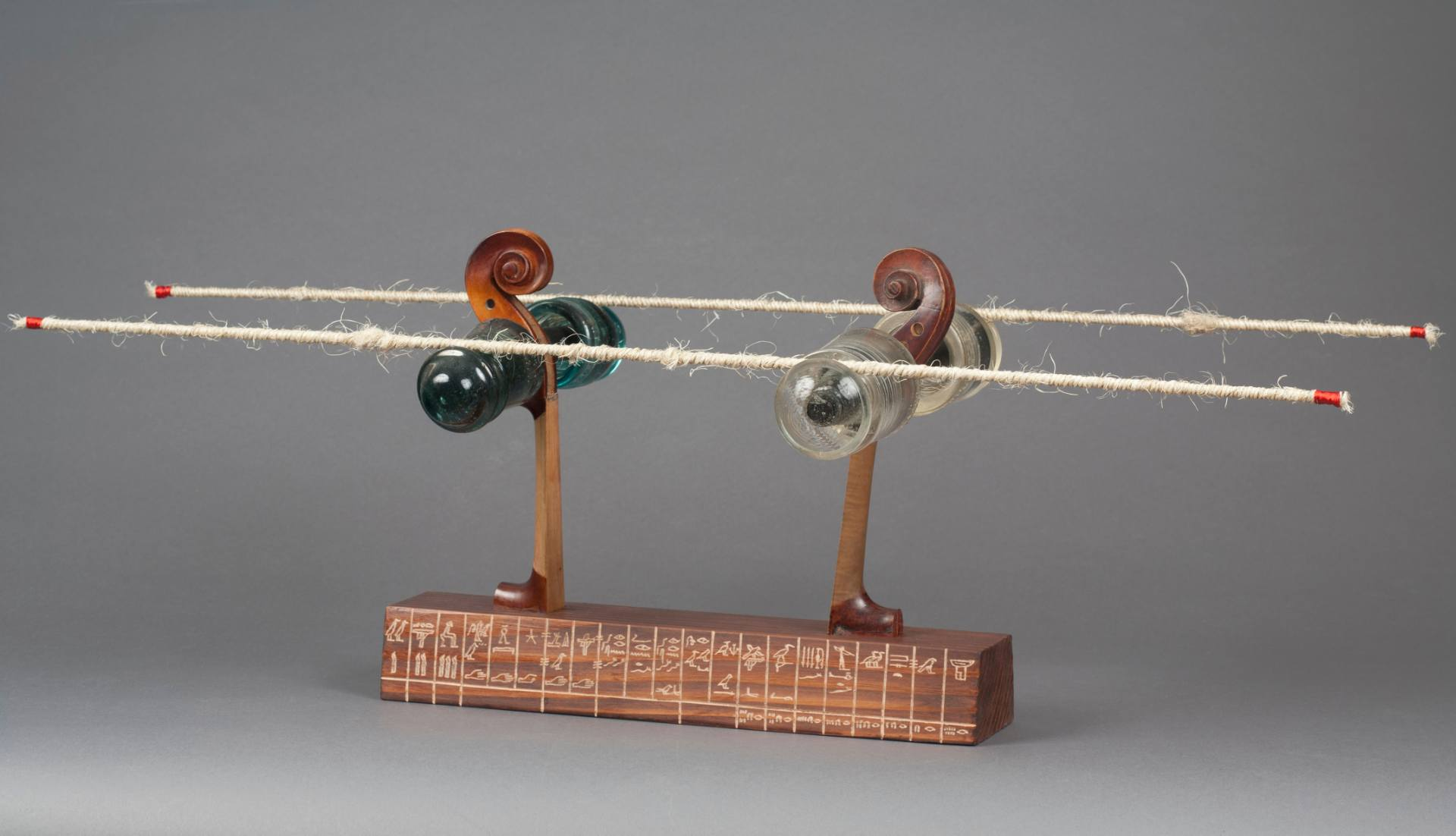 "Genna Gurvich, A Horizon Keeper, 2014 Wood, Glass and Metal, 14"" x 34"" x 14""  Price $ 3,710"