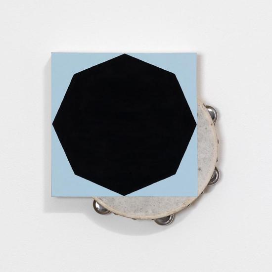 Paul Lee, Untitled (tambourine), 2011 tambourine, paint, balsa wood, 29.5 x 29.5 x 5 cm / 11 5/8 x 11 5/8 x 2 ins,