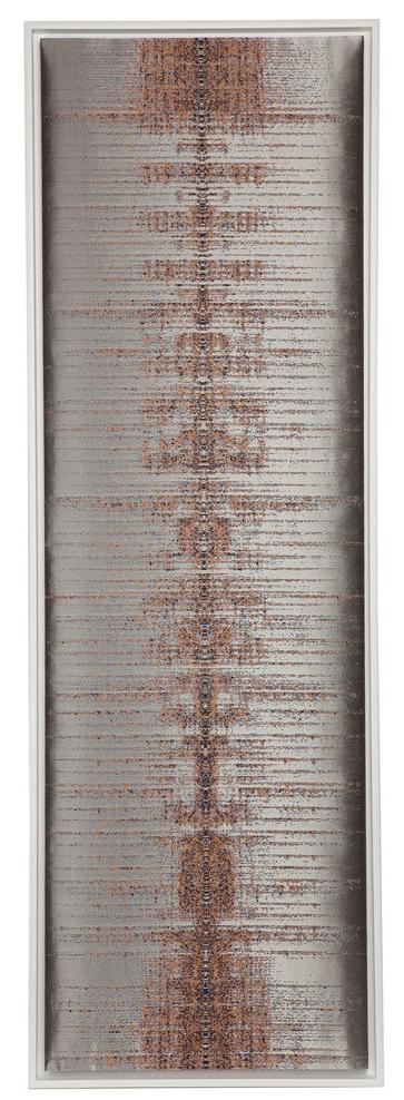 David Bowie, Let's Dance 60% Woven silk, 20% steel metallic yarns, and 20% linen.