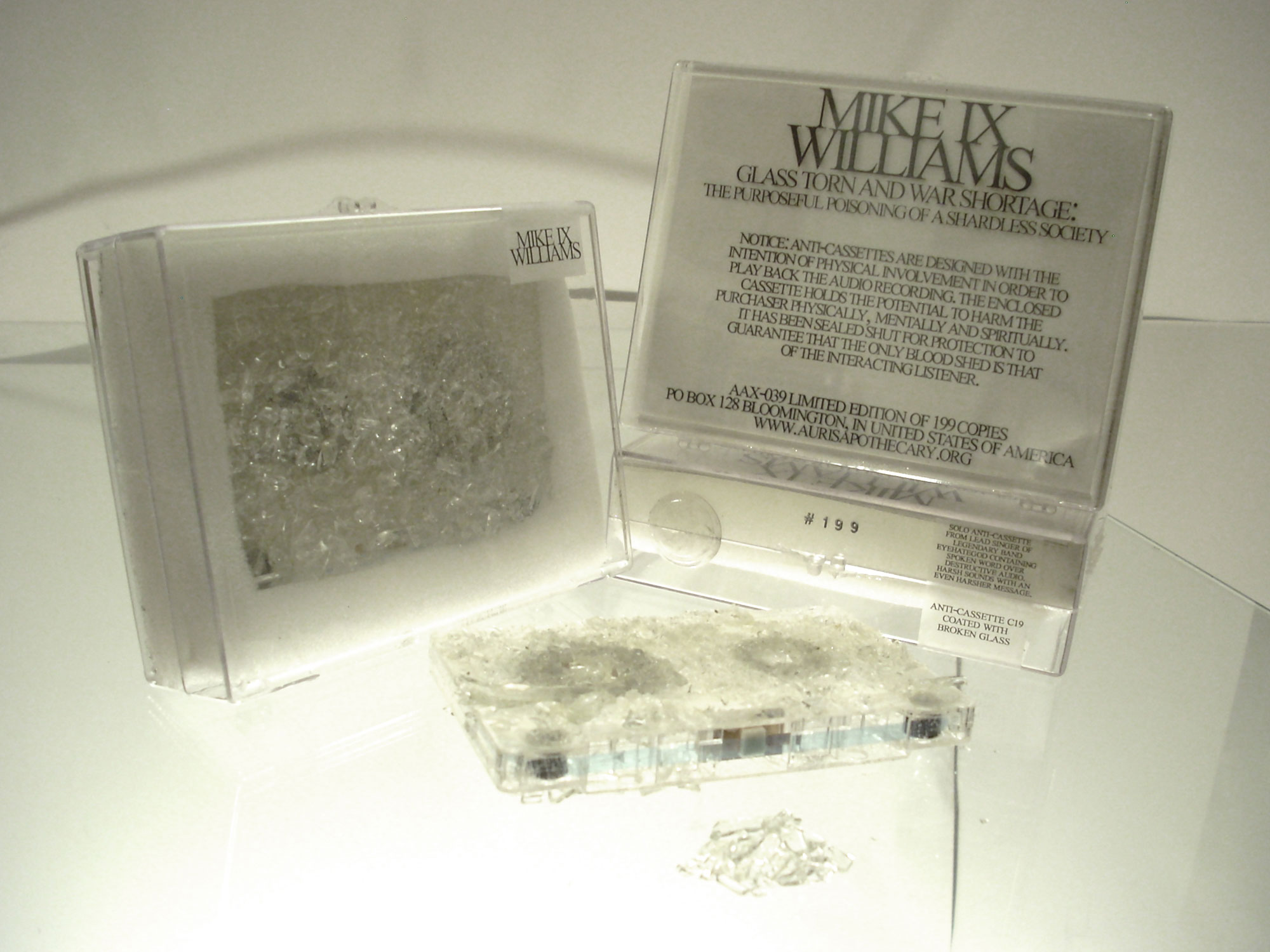 Mike IX Williams, Glass Torn and War Shortage : The Purposeful Poisoning of a Shardless Society, 2011
