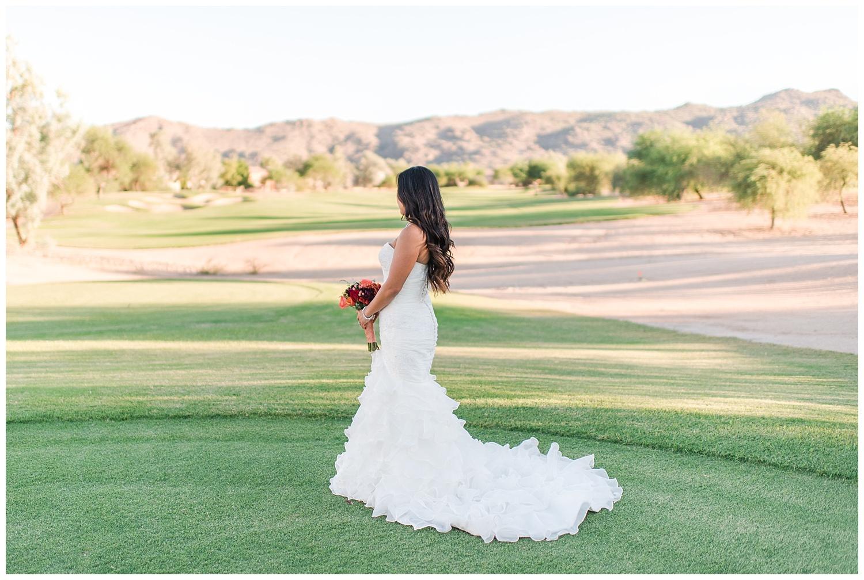 Bride Portrait, Golf Resort, Mountains