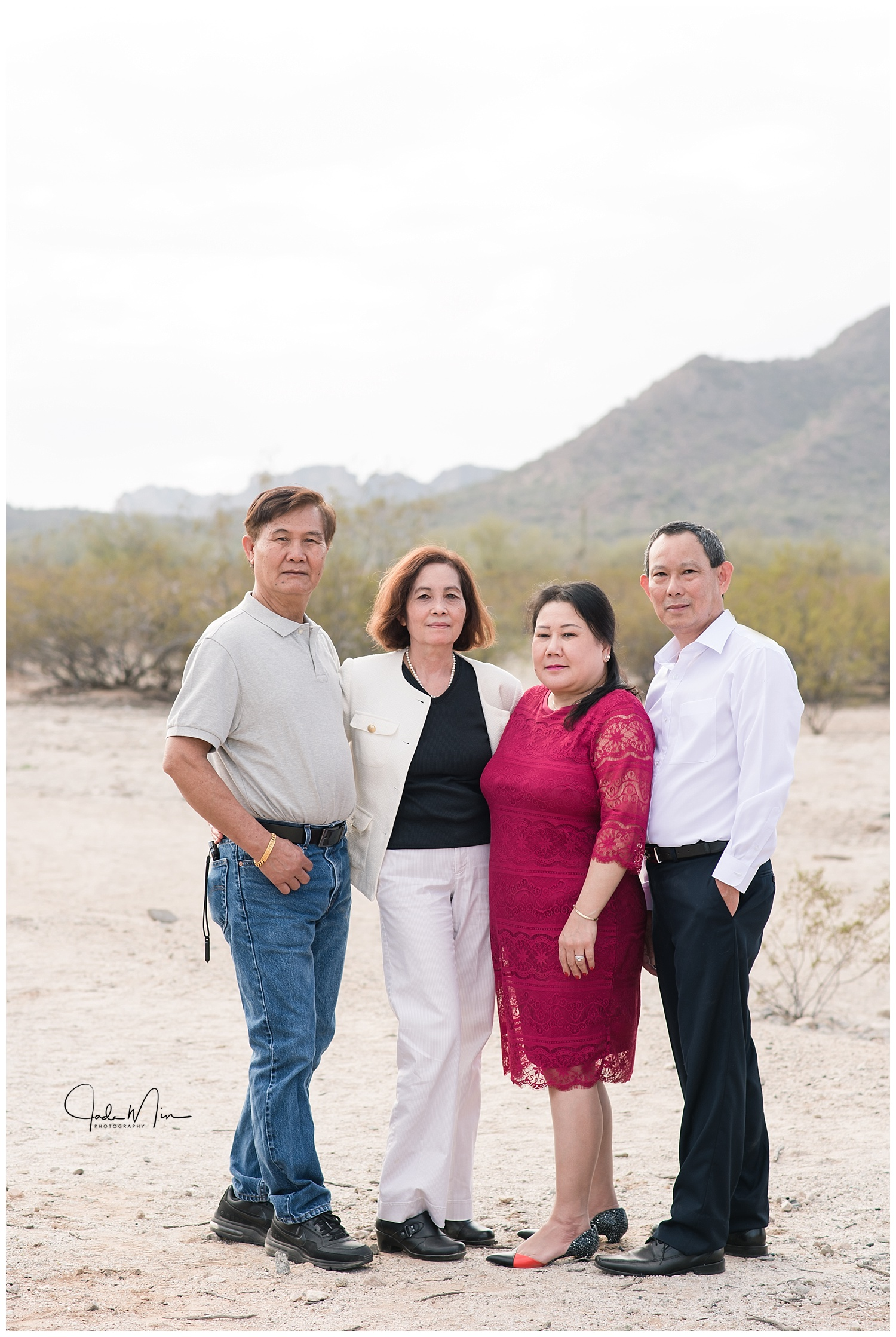 Phanpraseuth & McLawson Families, Photo Session at San Tan Mountain Regional Park in Queen Creek, Arizona.