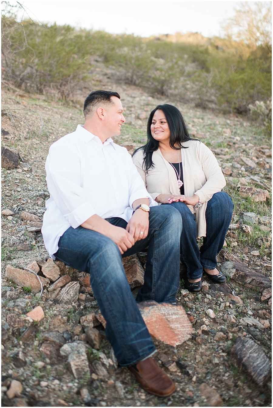 Vale family photo session at Desert Foothills Trailhead in Ahwatukee, Arizona.