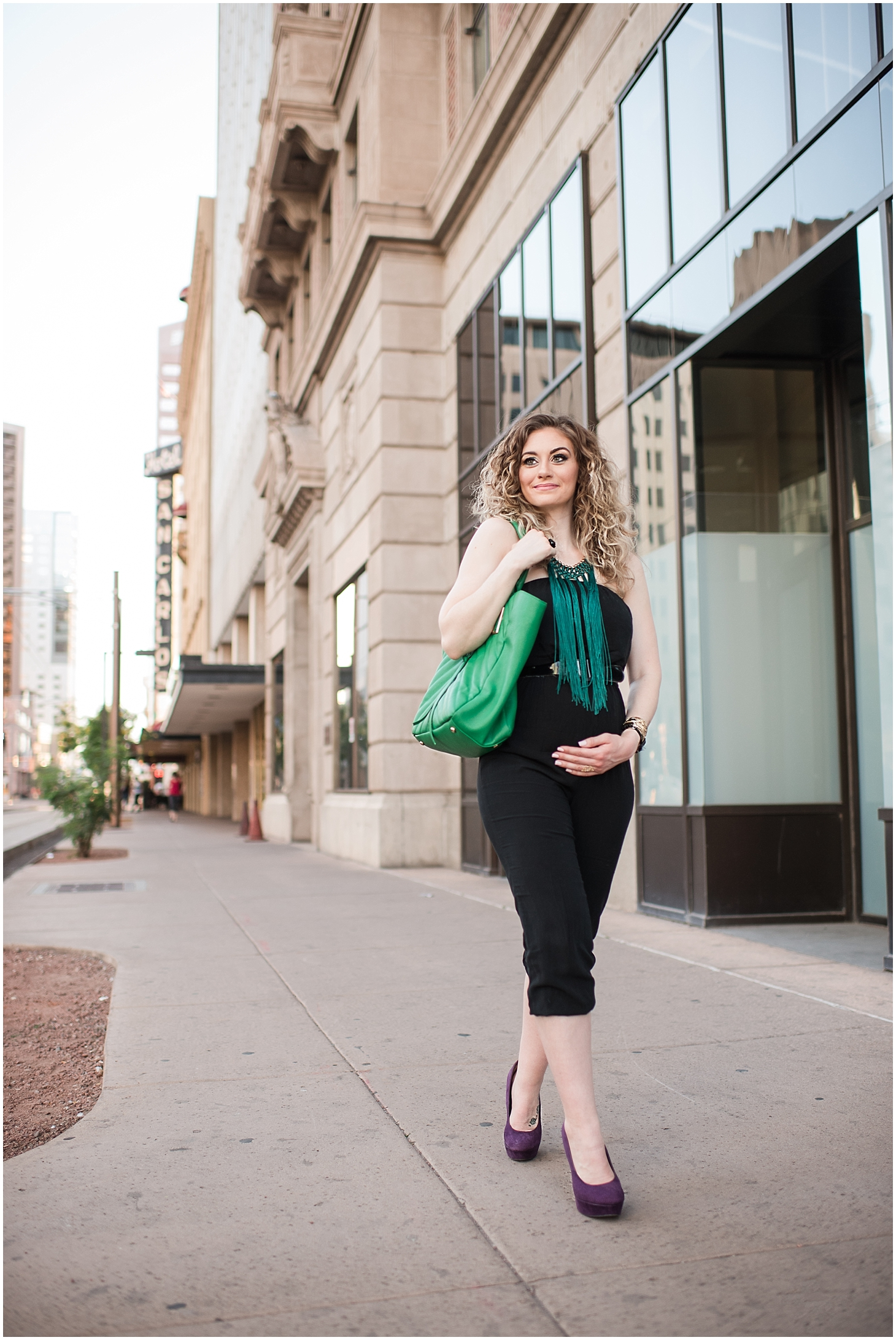 Maternity session with beautiful mommy-to-be Mary Schwickerath at downtown Phoenix. Photo taken by Jade Min Photography.