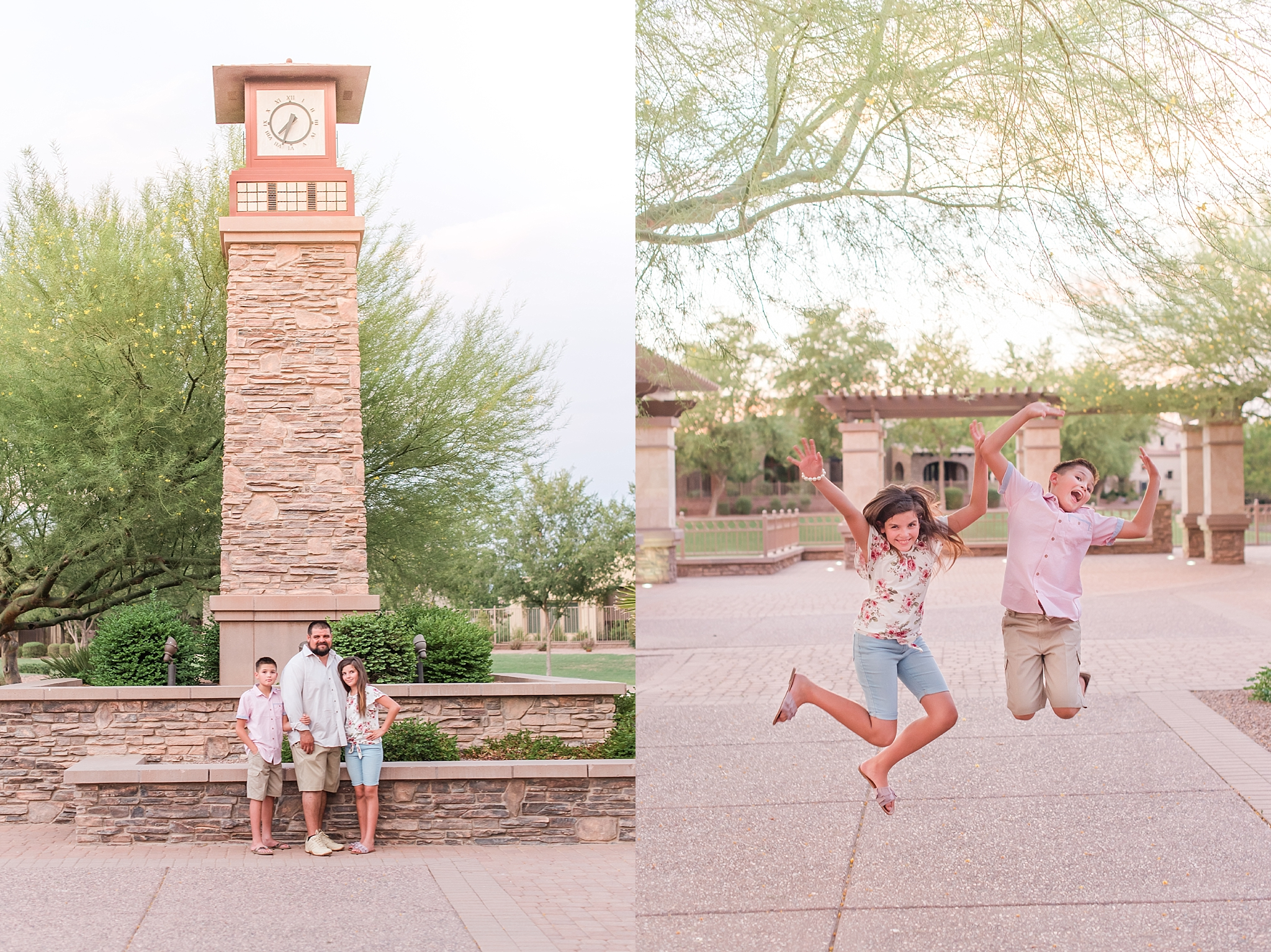 Arce family photo session at Fulton Ranch in Chandler, Arizona. Family photos taken by Jade Min Photography.