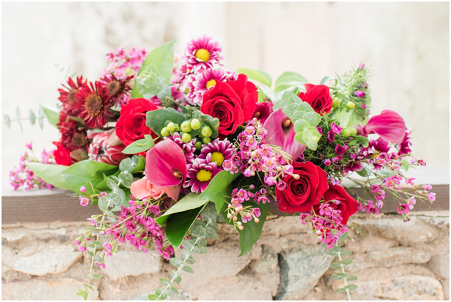 Wedding bouquet created by Jade Min Photography for an anniversary styled session at photographed at Scorpion Gulch in Phoenix! Photos taken by Phoenix wedding photographer, Jade Min Photography.