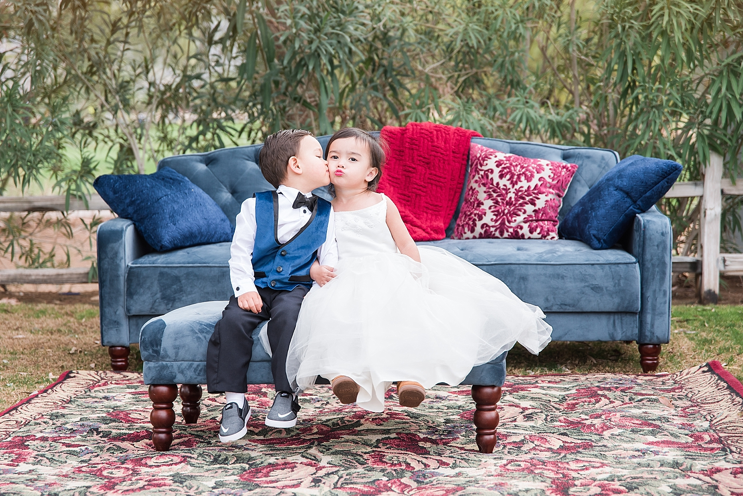 My nephew (Lincoln) and Tina's daughter (MacKenzie)...two of our youngest models! Aren't they just adorable? MacKenzie has perfected the duck lips!