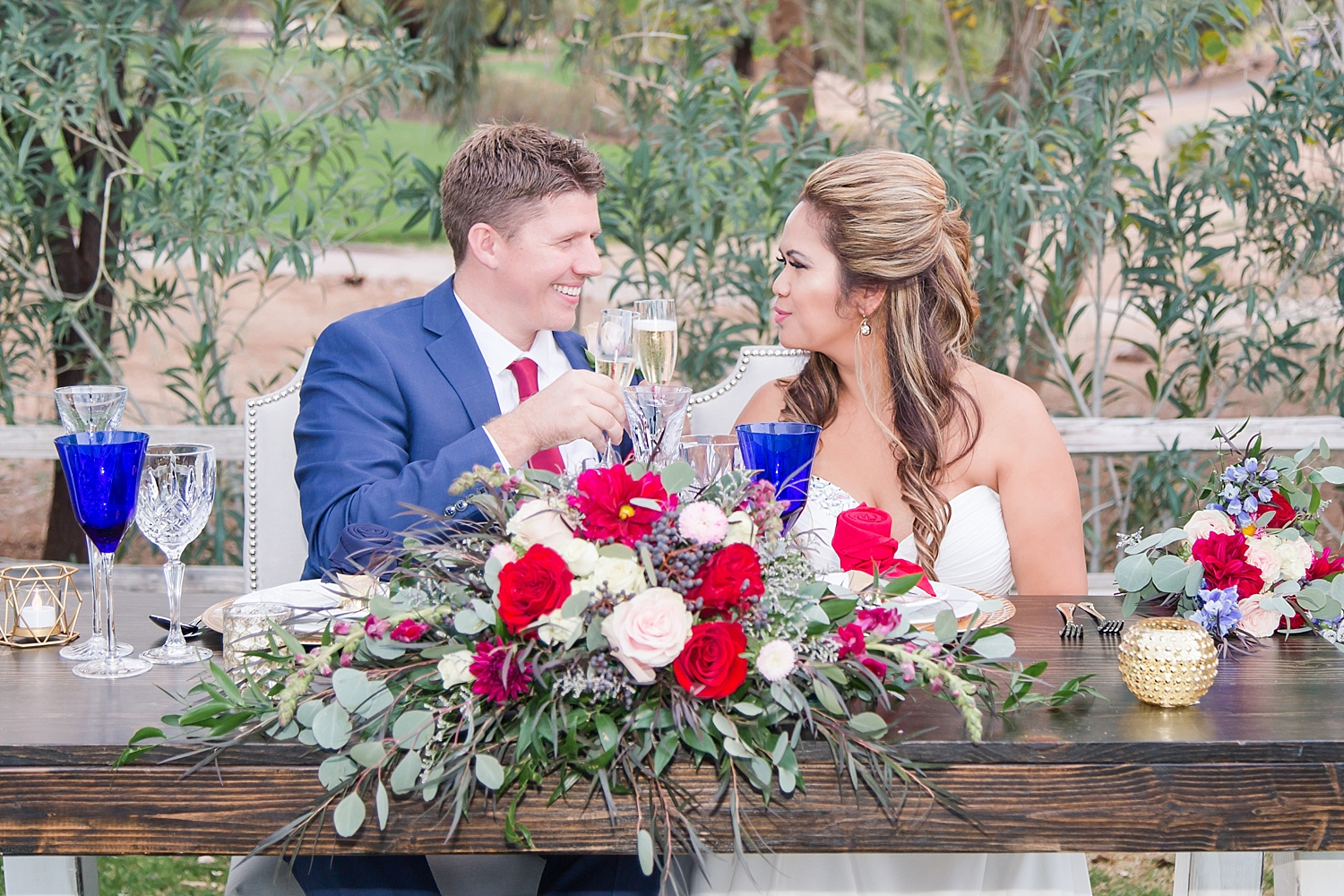 Rustic Elegance inspired wedding at the Legacy Golf Resort in Phoenix, Arizona. Event coordinated by Jade Min Photography.