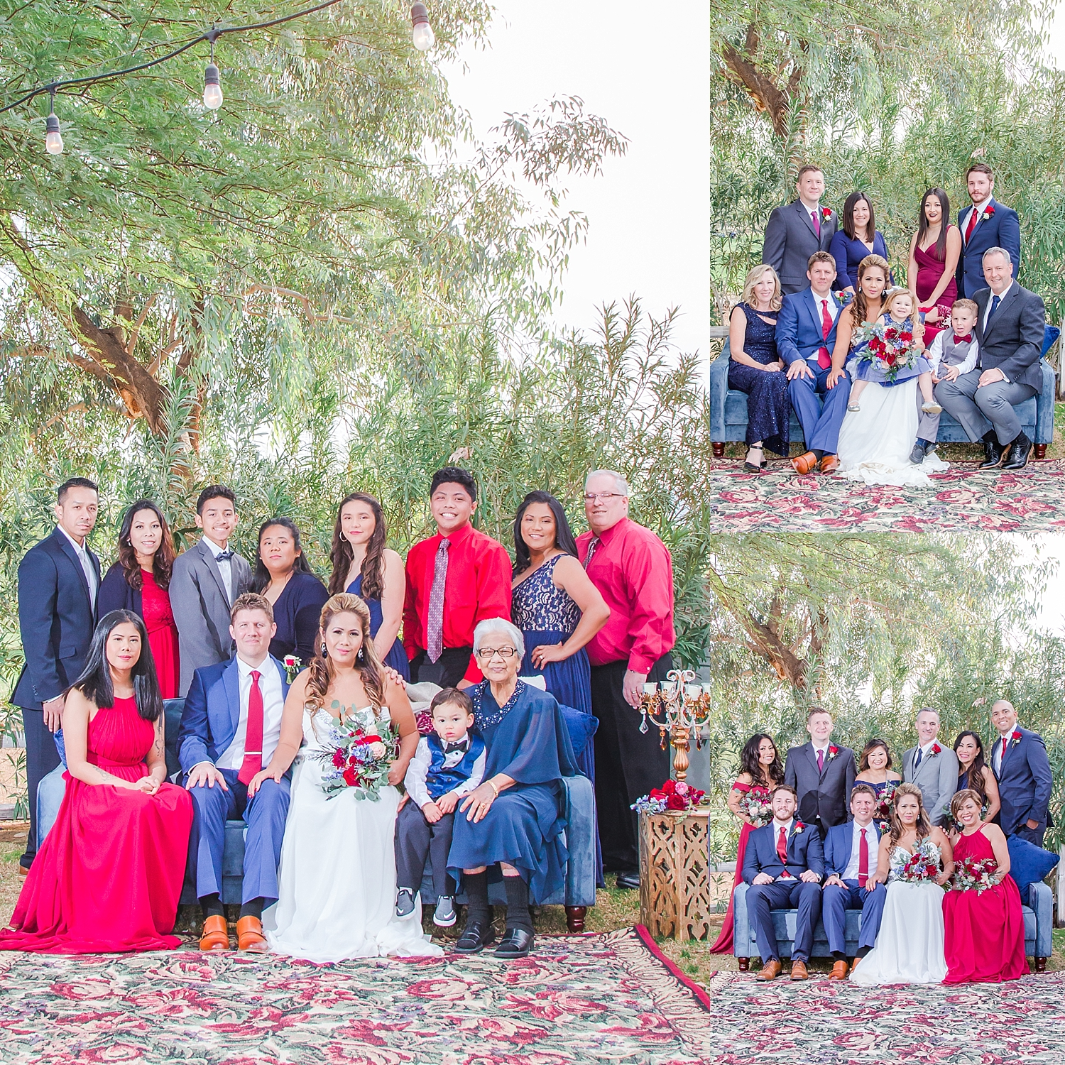 The lovely people pictured above are our family and friends. I really loved the fact that everyone dressed up and we were able to get photos that we otherwise may not have. Thank you family and friends!