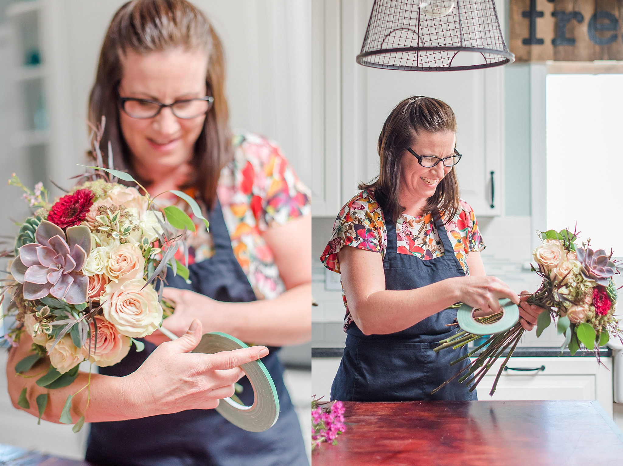 Aubri MacDonald, owner of AZ Flower Fix in Litchfield Park, Arizona. Vendor photo taken by Jade Min Photography, based out of Gilbert, Arizona.