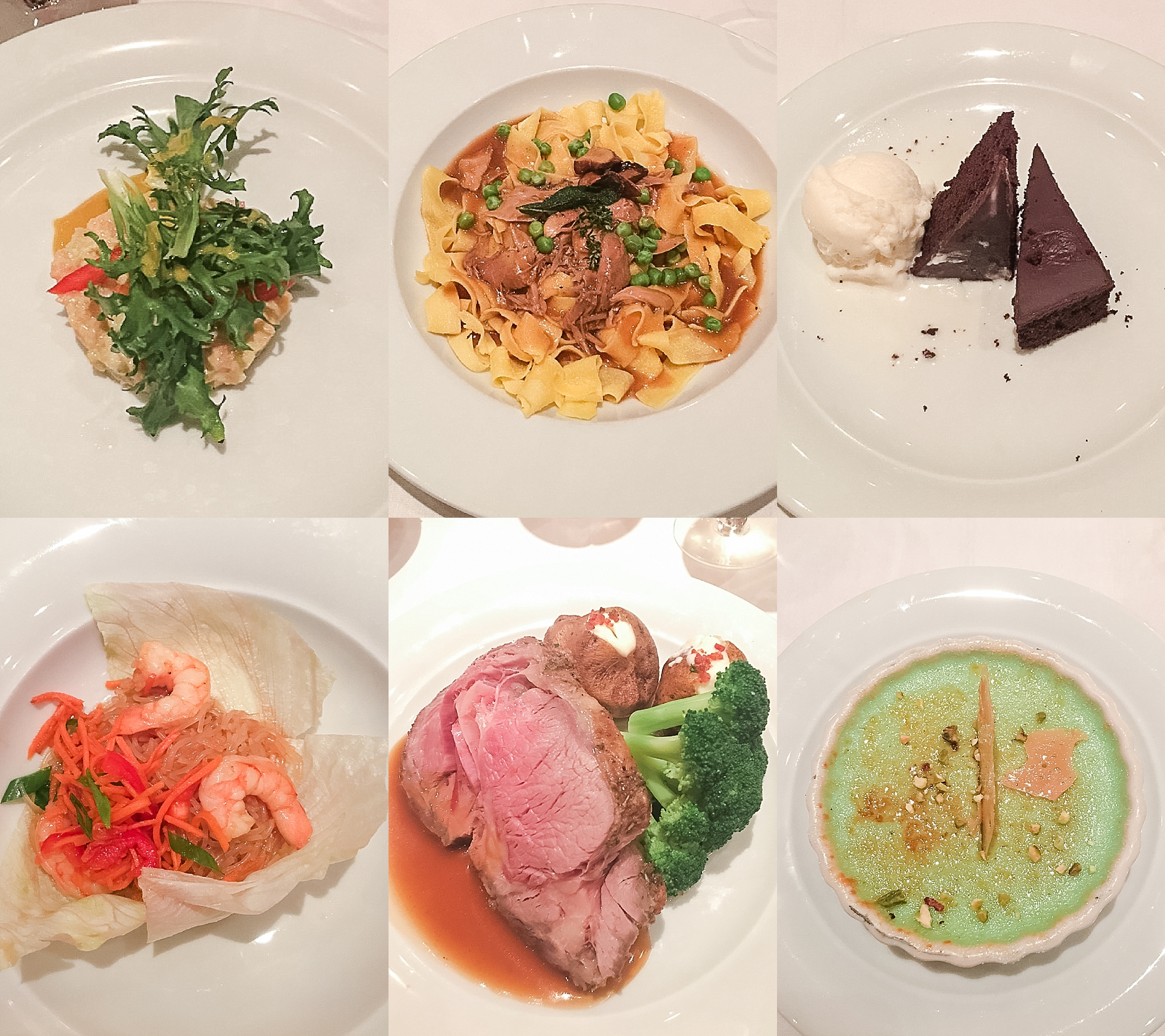 Dinner at the Liberty Dining Room on the Pride of America cruise ship. Photos by Jade Min Photography.