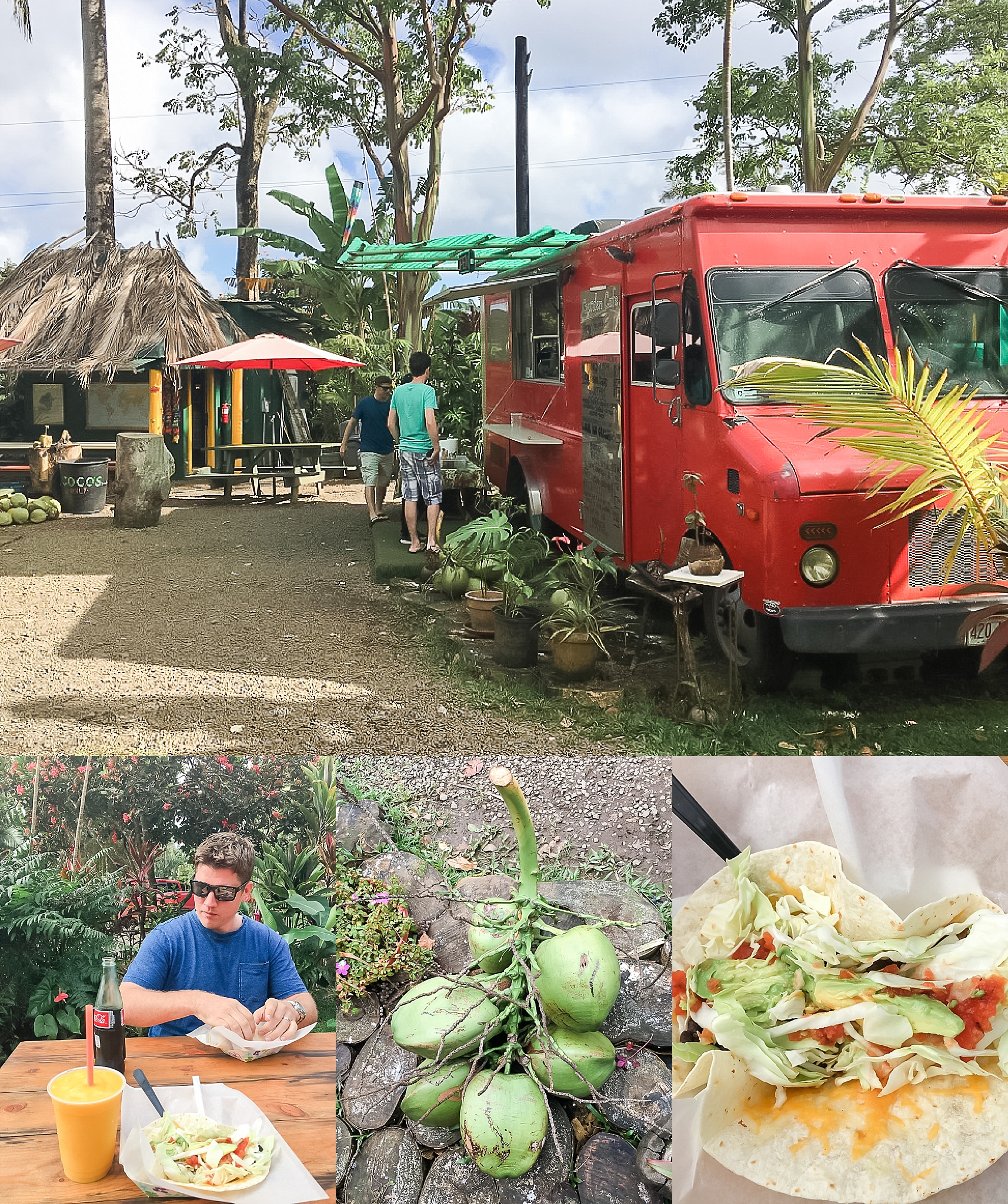 Early lunch at food truck located near entrance of the Garden of Eden on one of the stops during road to Hana drive in Maui. Photos by Jade Min Photography.