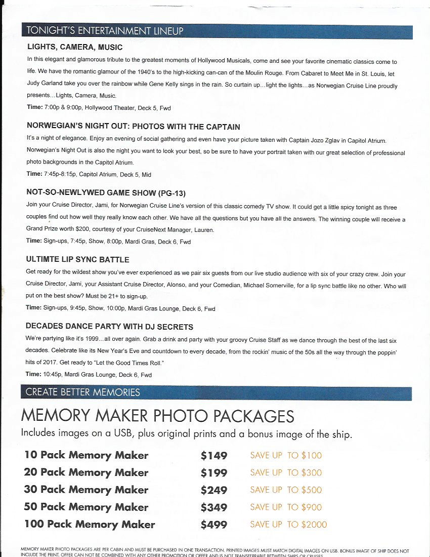 Norwegian's Pride of America - Welcome Aboard Embarkation Day Info. Photo by Jade Min Photography.