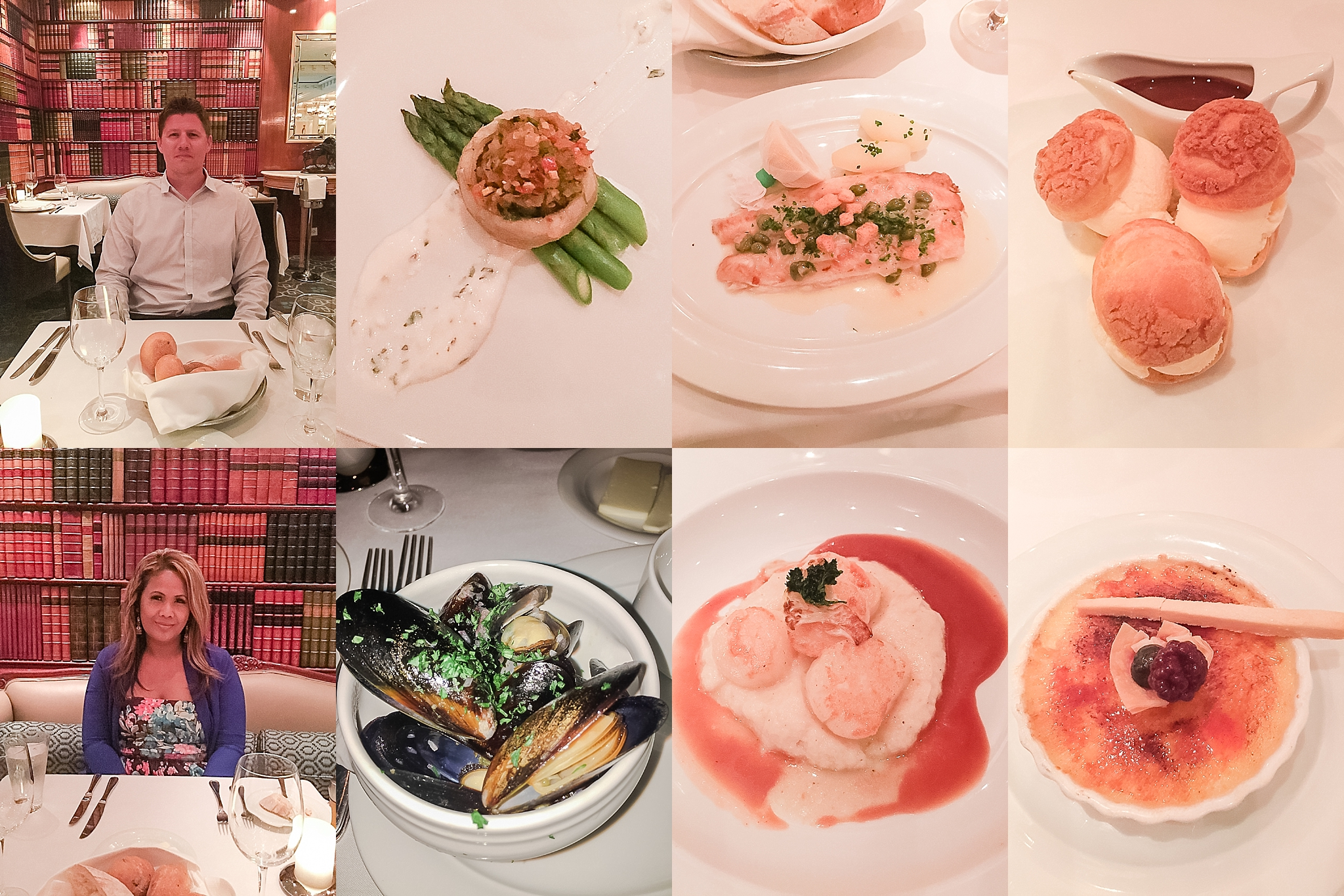 Dinner at Jefferson's Bistro on the Pride of America cruise ship. Photos by Jade Min Photography.