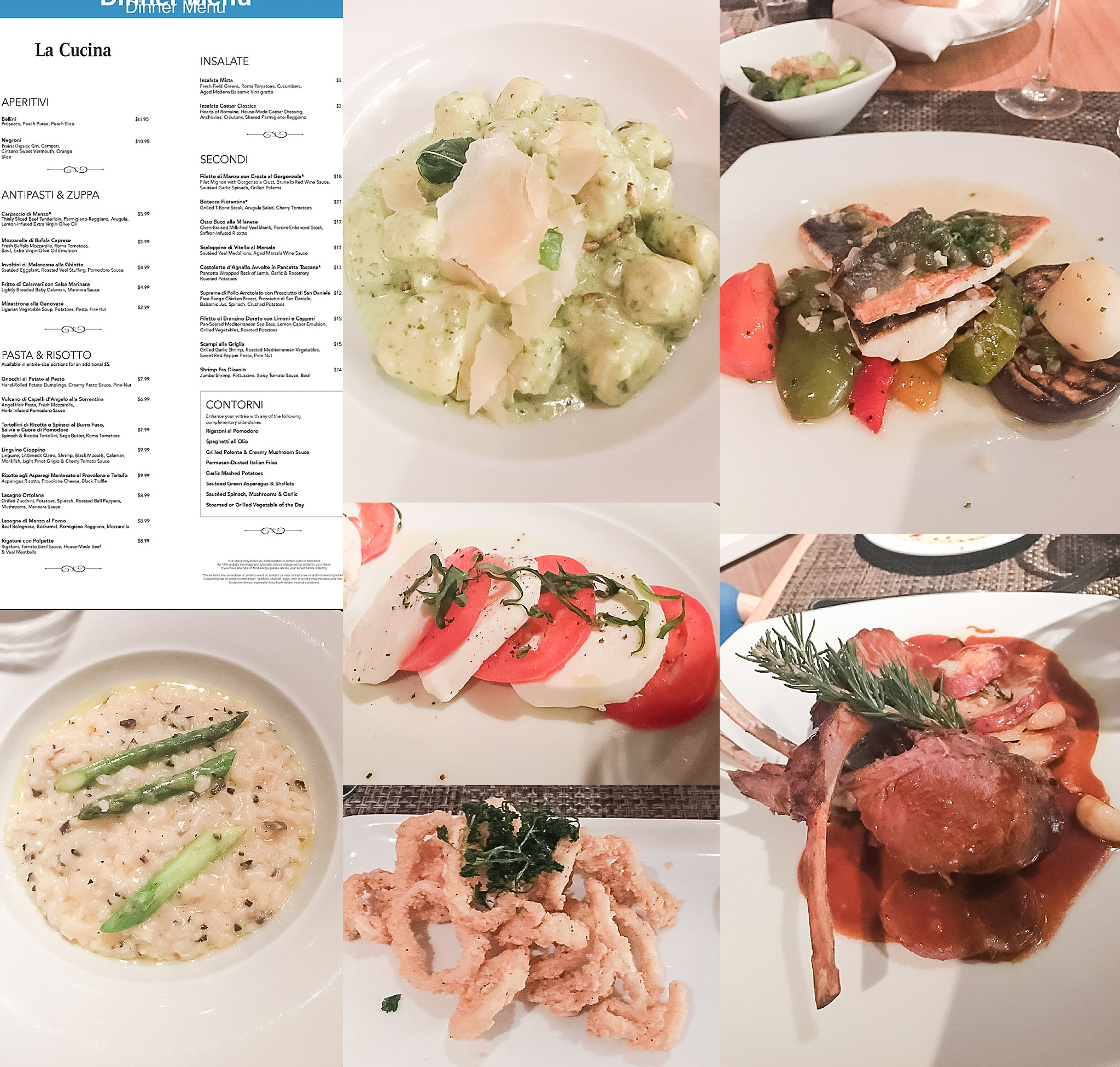 Dinner at La Cucina Restaurant on Pride of America. Photos by Jade Min Photography.