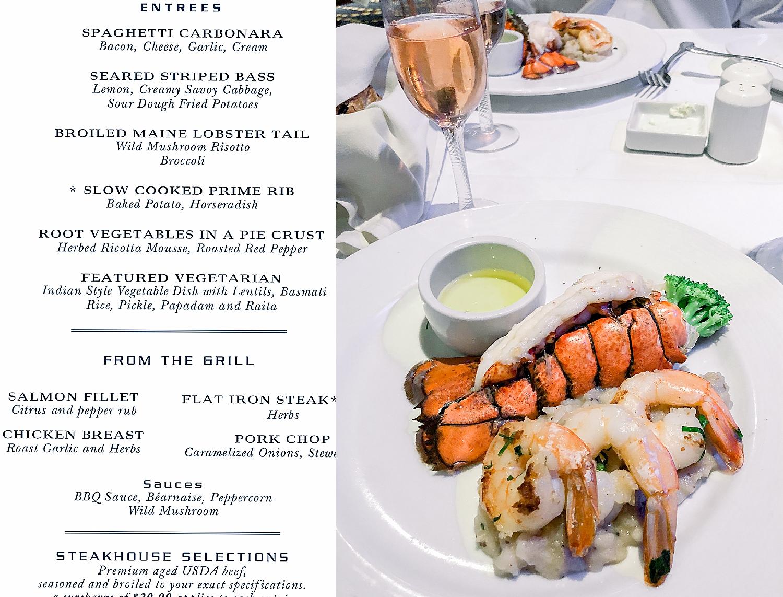 Cruise Elegant Dinner in the Black Pearl Restaurant on the Carnival Splendor. Photo taken by Jade Min Photography.
