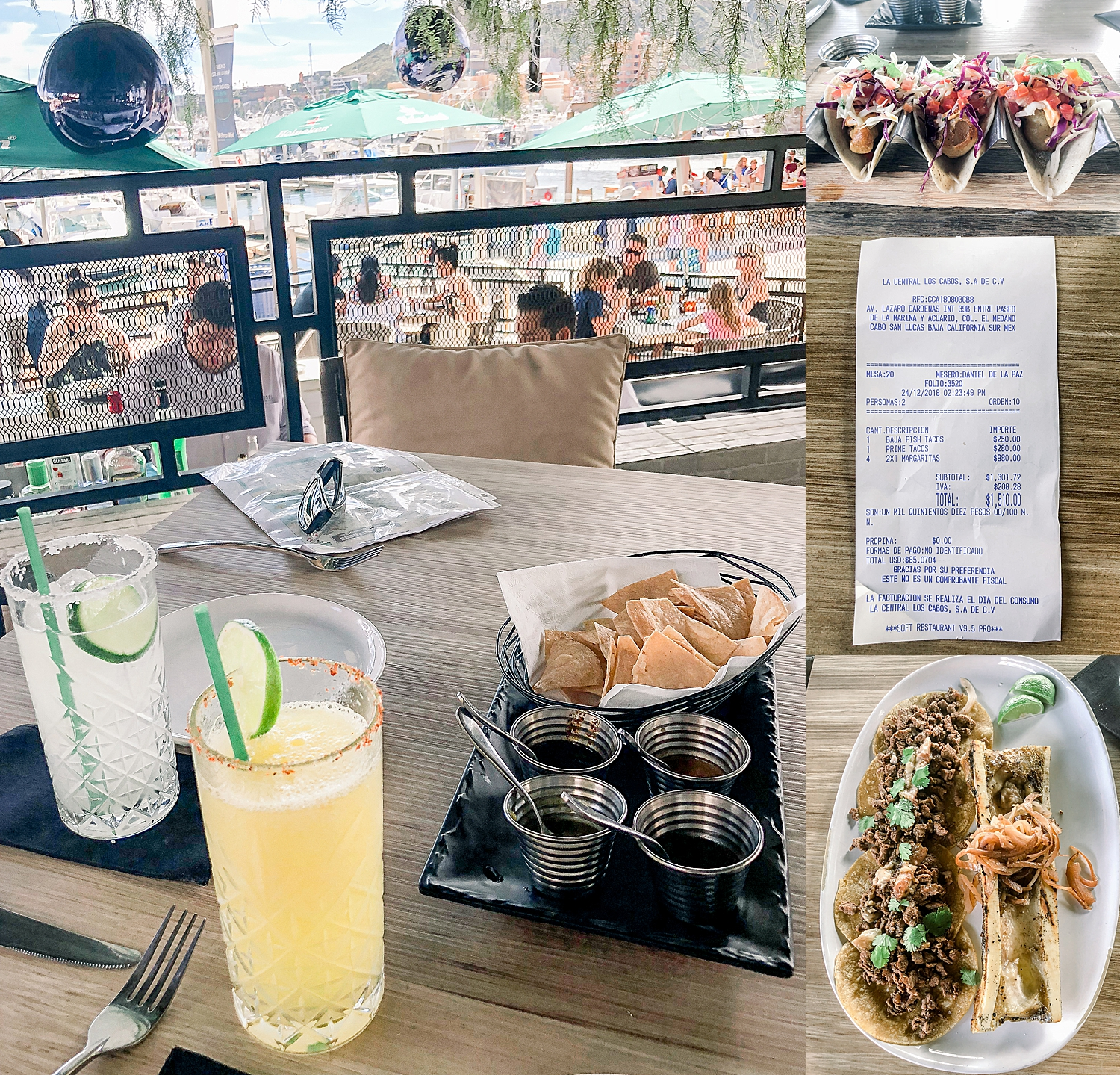 Delicious lunch at La Central in Cabo San Lucas - port of call for the Carnival Splendor. Photos by Jade Min.