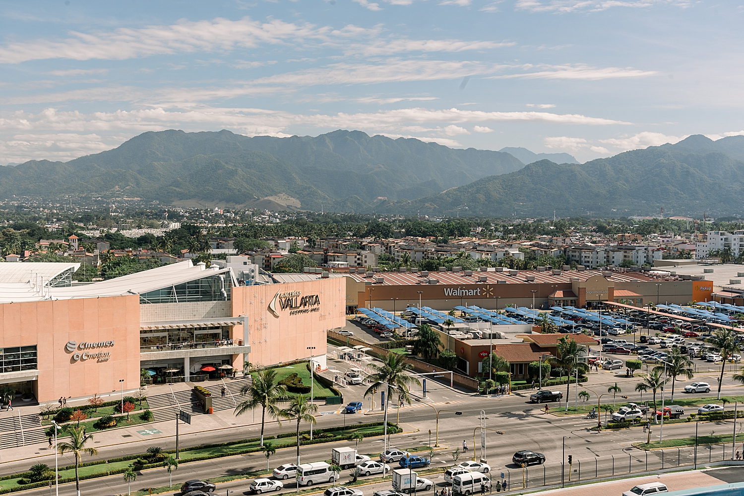 View from the Carnival Splendor of Wal-Mart and Puerto Vallarta Mall. Photo by Jade Min Photography.