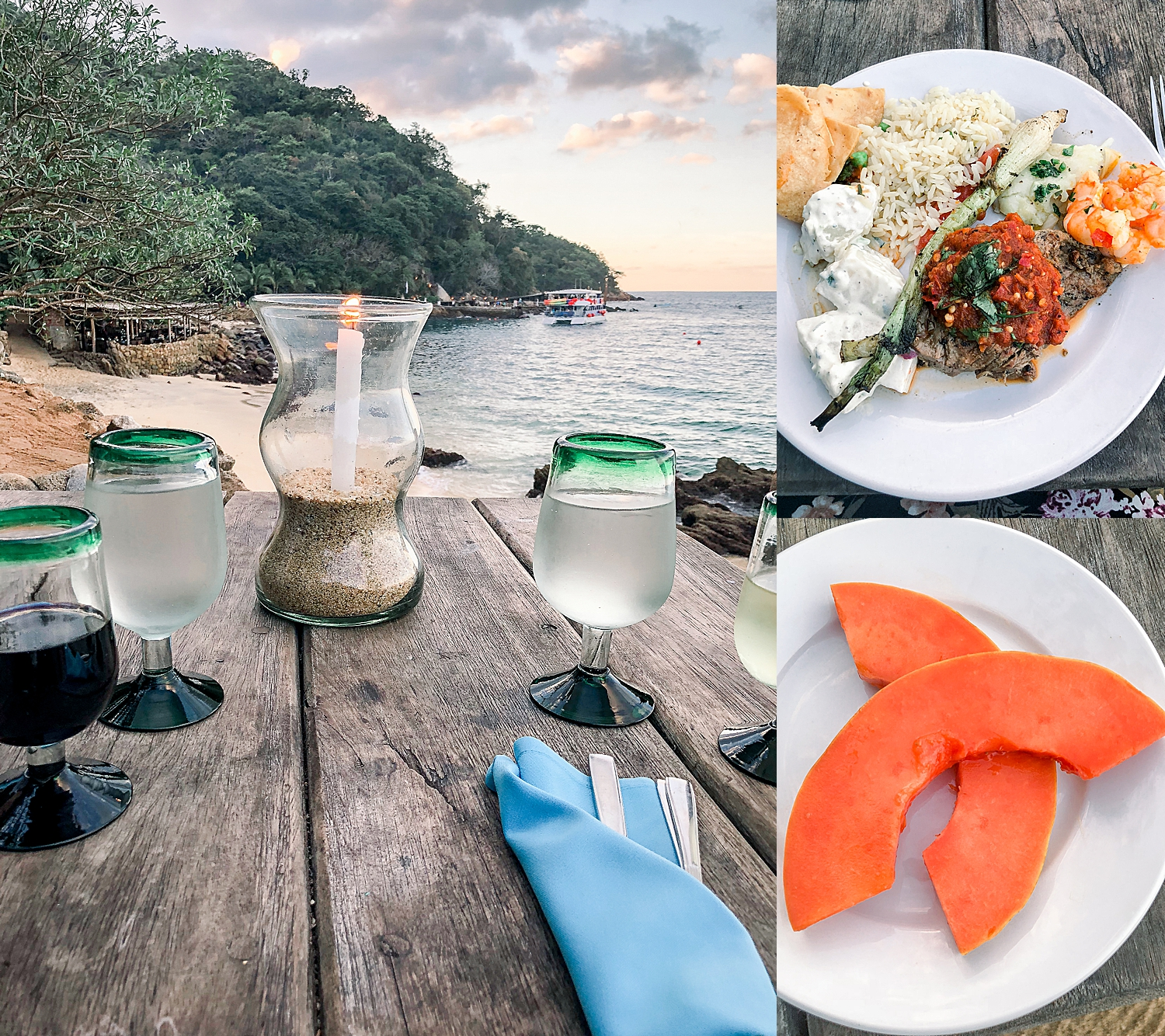 Dinner with a view on Las Caletas Island. Photos by Jade Min Photography.