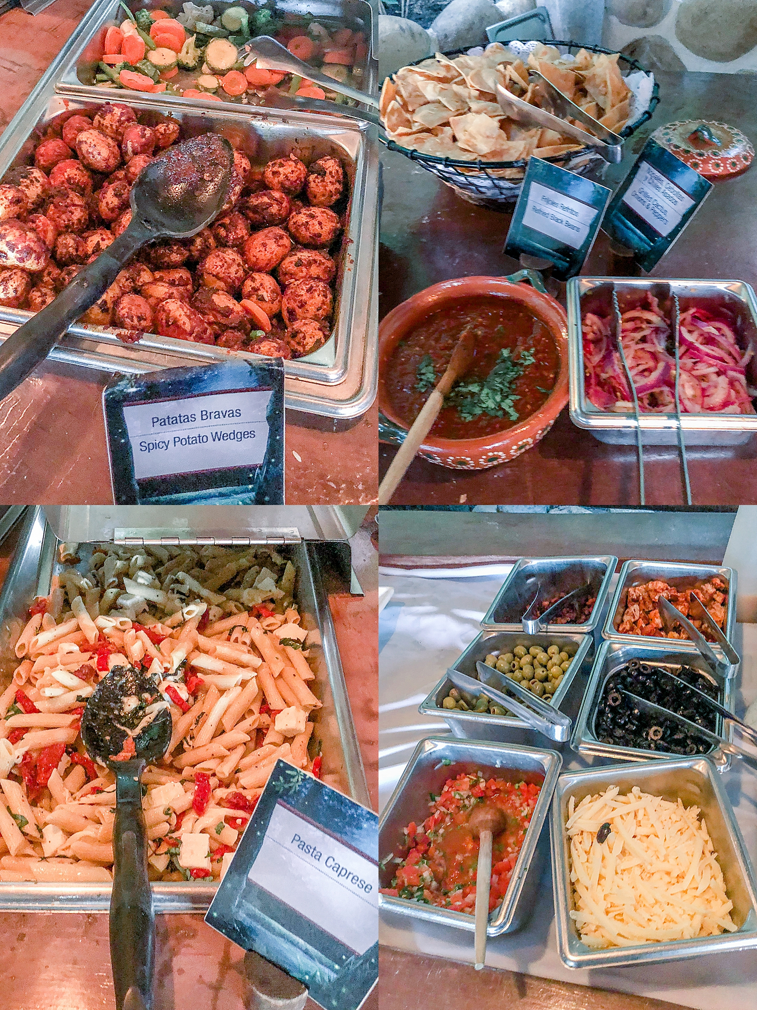 Gourmet buffet on Las Caletas as part of the Rhythm of the Night dinner and show. Photos by Jade Min Photography.