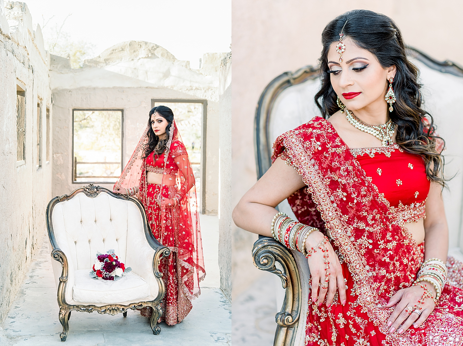 Indian Bridal Session with Neema Patel. Photos taken by Jade Min Photography in Phoenix, Arizona.