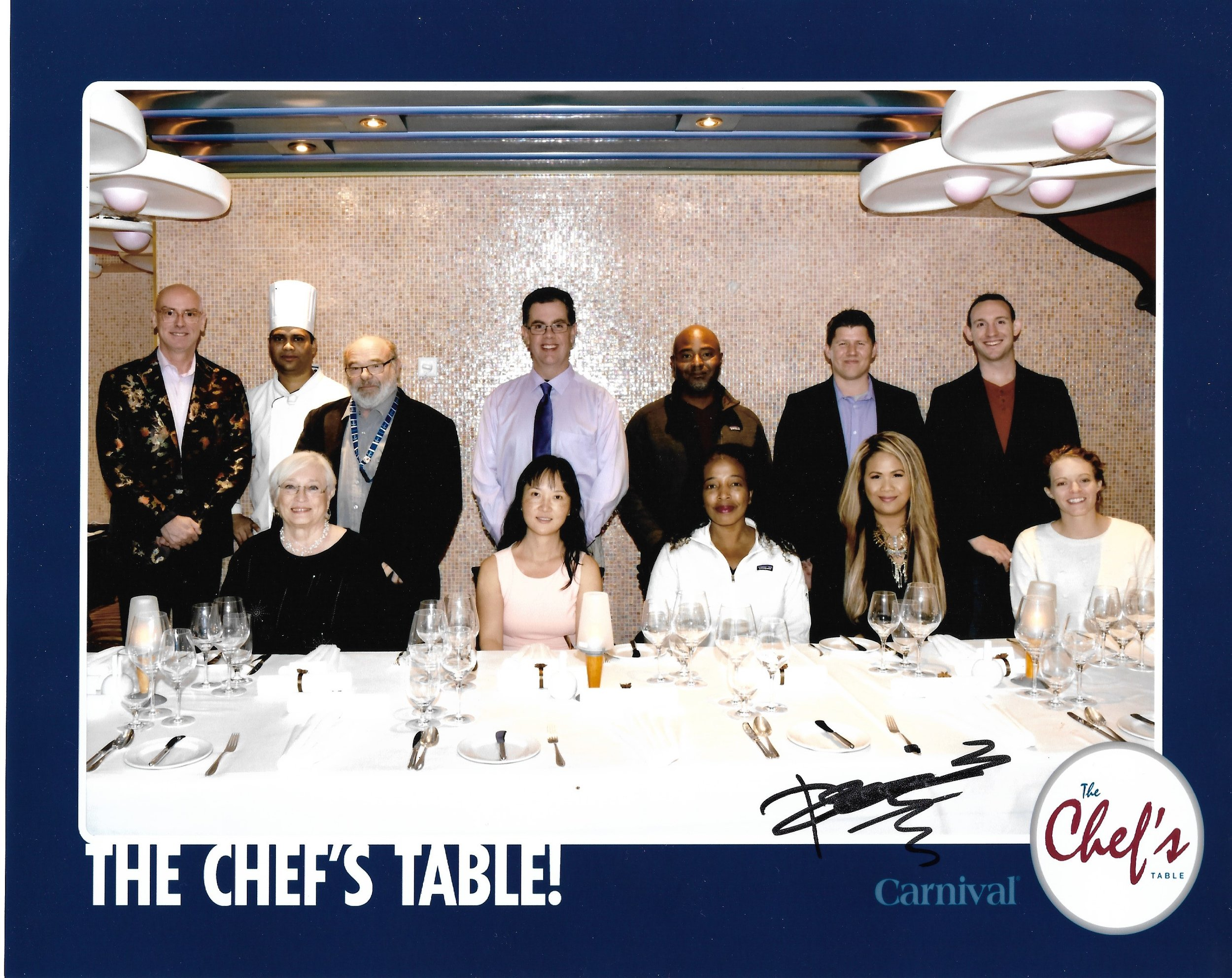 Chef's Table experience on the Carnival Splendor. Complimentary photo provided by Carnival Splendor.