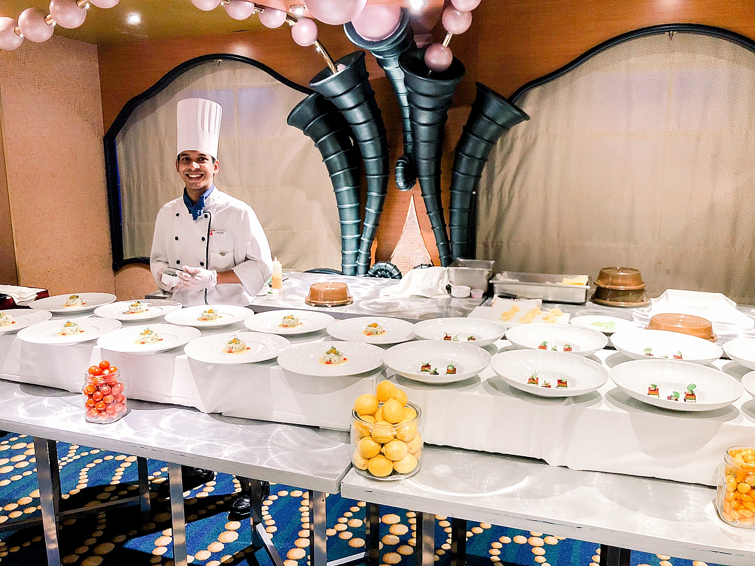 Chef's Table experience aboard the Carnival Splendor.