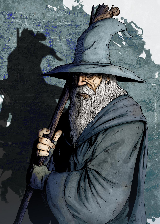 Gandalf, por  nidoart.blogspot.fr