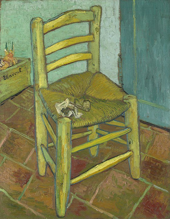 La silla de esperar a que las cosas le vayan bien  By Vincent van Gogh - 1. The Yorck Project (2002) 10.000 Meisterwerke der Malerei (DVD-ROM), distributed by DIRECTMEDIA Publishing GmbH. ISBN: 3936122202.2./3. National Gallery (NG3862), London, Public Domain, https://commons.wikimedia.org/w/index.php?curid=151983