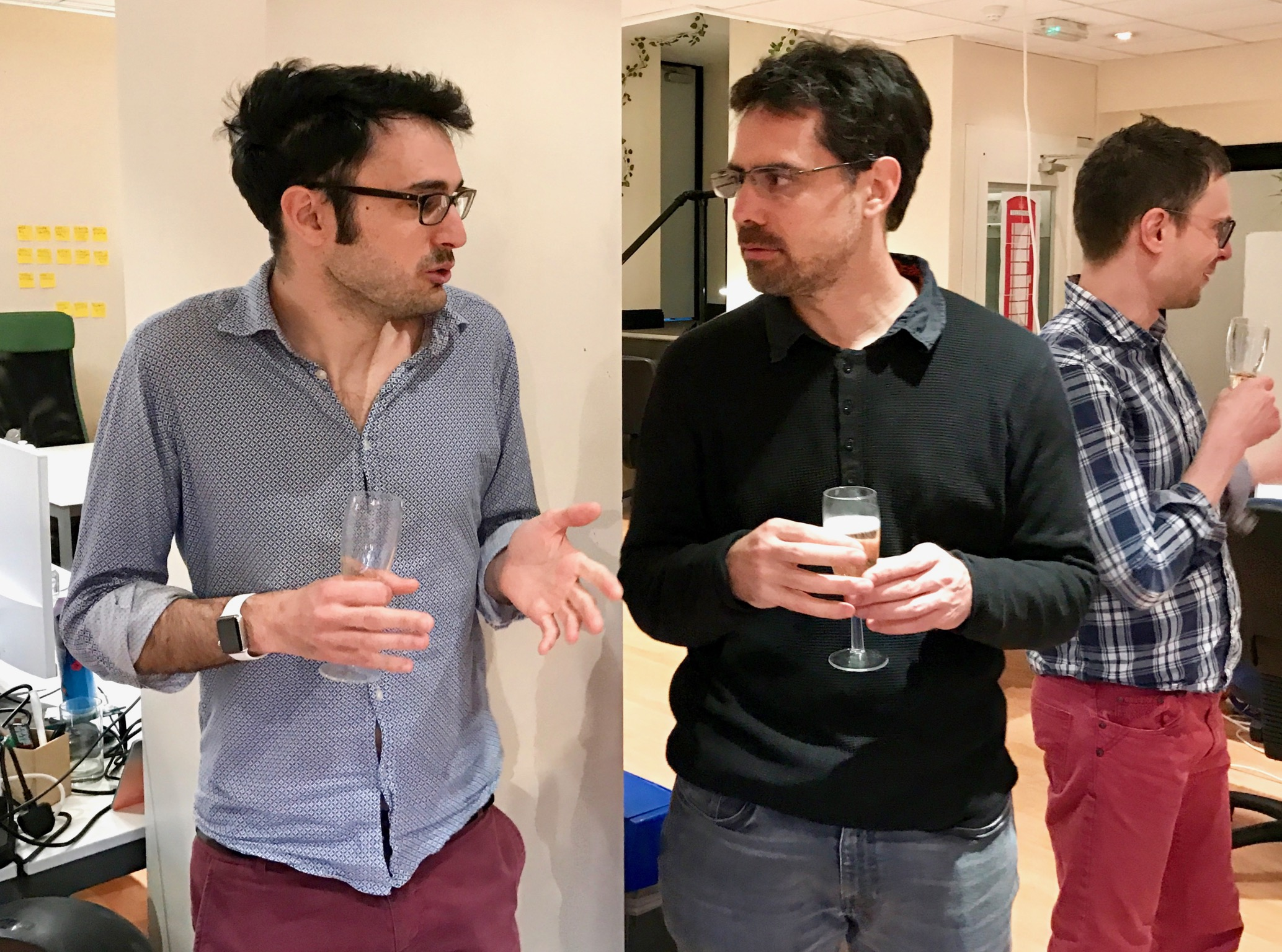 Pierre-Jean Camillieri (Aiden.ai) and Guillaume Bourchard (Bloomsbury AI) at one of our meetups, probably discussing AI...