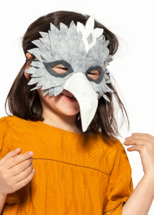Animal Masks   Felt bird and fox masks made from personally developed patterns